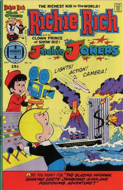 Cover for Richie Rich & Jackie Jokers (Harvey, 1973 series) #16