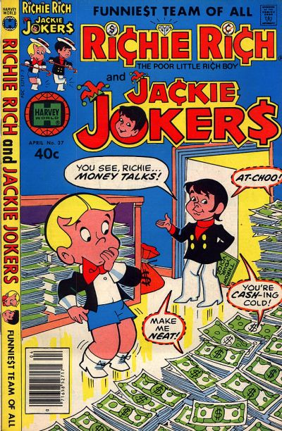 Cover for Richie Rich & Jackie Jokers (Harvey, 1973 series) #37