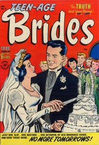 Cover Thumbnail for Teen-Age Brides (Harvey, 1953 series) #4