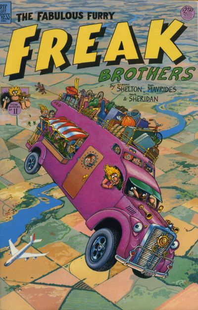 Cover for The Fabulous Furry Freak Brothers (Rip Off Press, 1971 series) #11 [2.95 USD 2nd print]