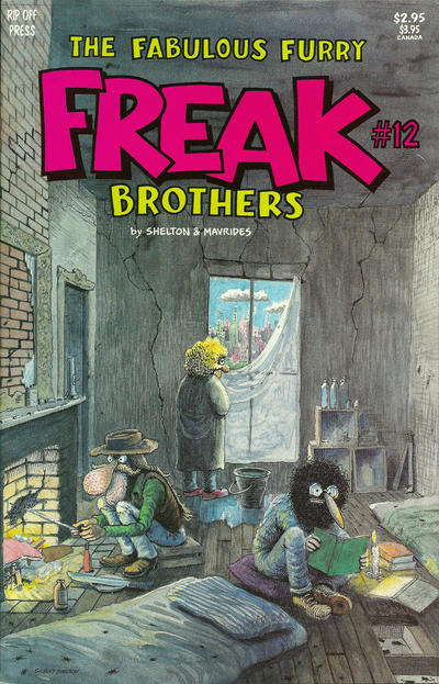 Cover for The Fabulous Furry Freak Brothers (Rip Off Press, 1971 series) #12 [3.95 USD 3rd print]