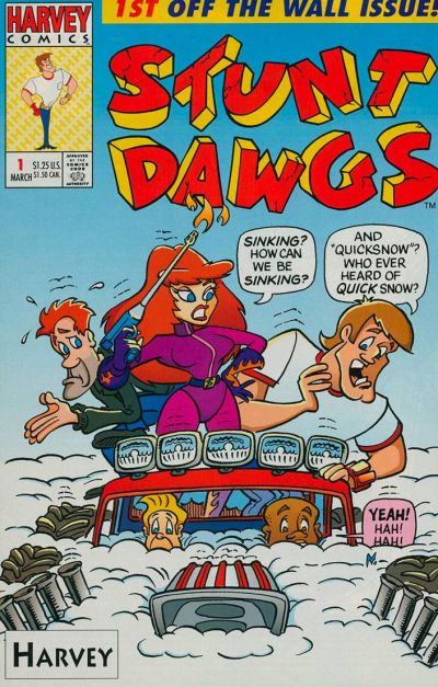 Cover for Stunt Dawgs (Harvey, 1993 series) #1 [Newsstand]