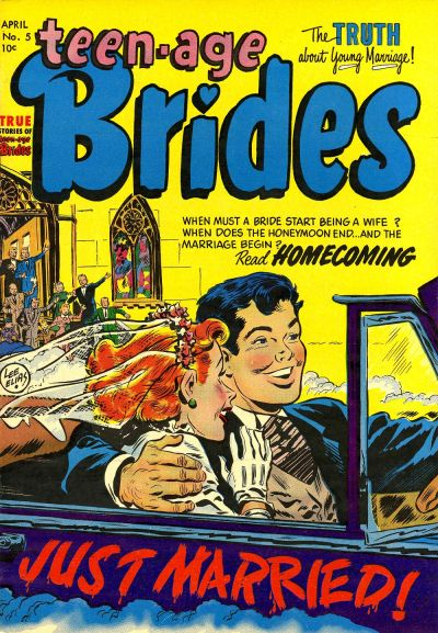 Cover for Teen-Age Brides (Harvey, 1953 series) #5