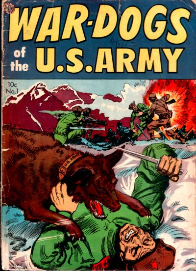 Cover for War Dogs of the U.S. Army (Avon, 1952 series) #1