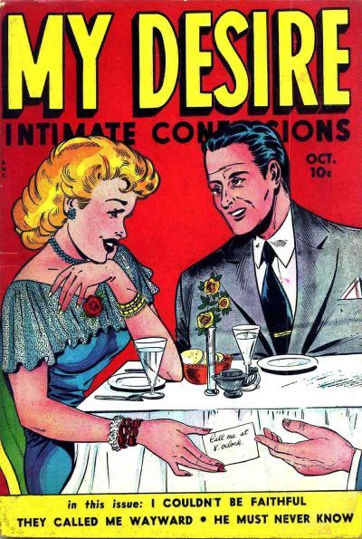 Cover for My Desire Intimate Confessions (Fox, 1949 series) #31 [1]