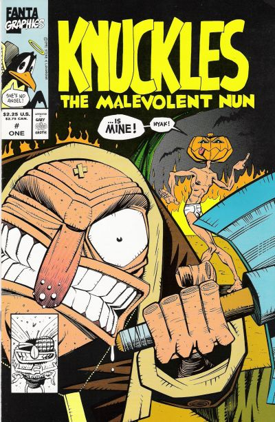 Cover for Knuckles the Malevolent Nun (Fantagraphics, 1991 series) #1