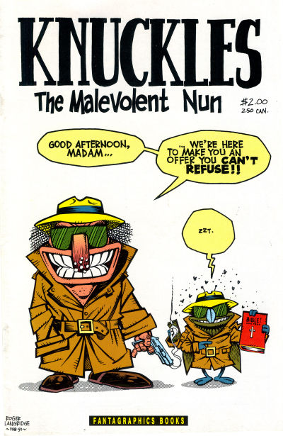 Cover for Knuckles the Malevolent Nun (Fantagraphics, 1991 series) #2