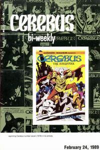Cover Thumbnail for Cerebus Bi-Weekly (Aardvark-Vanaheim, 1988 series) #7