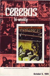 Cover Thumbnail for Cerebus Bi-Weekly (Aardvark-Vanaheim, 1988 series) #23