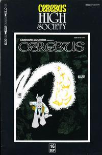 Cover Thumbnail for Cerebus: High Society (Aardvark-Vanaheim, 1990 series) #16