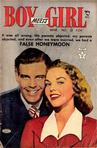 Cover Thumbnail for Boy Meets Girl (Lev Gleason, 1950 series) #21