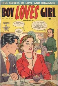 Cover Thumbnail for Boy Loves Girl (Lev Gleason, 1952 series) #25