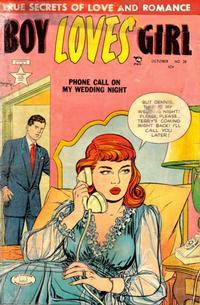 Cover Thumbnail for Boy Loves Girl (Lev Gleason, 1952 series) #28