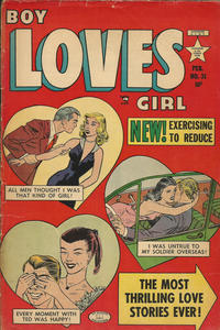 Cover Thumbnail for Boy Loves Girl (Lev Gleason, 1952 series) #31