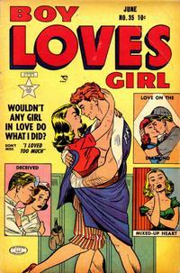 Cover Thumbnail for Boy Loves Girl (Lev Gleason, 1952 series) #35