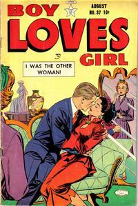 Cover Thumbnail for Boy Loves Girl (Lev Gleason, 1952 series) #37