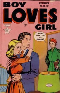 Cover Thumbnail for Boy Loves Girl (Lev Gleason, 1952 series) #38