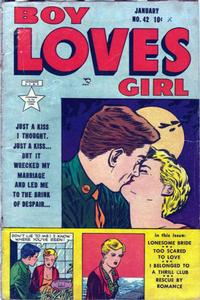 Cover Thumbnail for Boy Loves Girl (Lev Gleason, 1952 series) #42