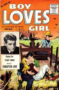 Cover Thumbnail for Boy Loves Girl (Lev Gleason, 1952 series) #51