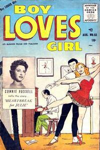 Cover Thumbnail for Boy Loves Girl (Lev Gleason, 1952 series) #53