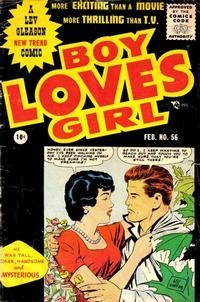 Cover Thumbnail for Boy Loves Girl (Lev Gleason, 1952 series) #56