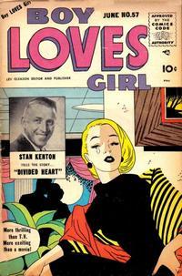 Cover Thumbnail for Boy Loves Girl (Lev Gleason, 1952 series) #57