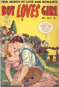 Cover Thumbnail for Boy Loves Girl (Lev Gleason, 1952 series) #27