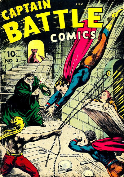 Cover for Captain Battle Comics (Chesler / Dynamic, 1942 series) #3