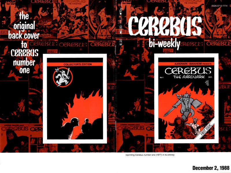 Cover for Cerebus Bi-Weekly (Aardvark-Vanaheim, 1988 series) #1