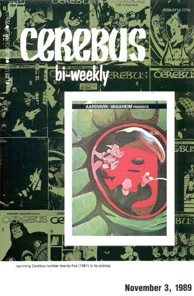 Cover for Cerebus Bi-Weekly (Aardvark-Vanaheim, 1988 series) #25