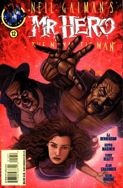 Cover for Neil Gaiman's Mr. Hero - The Newmatic Man (Big Entertainment, 1995 series) #12