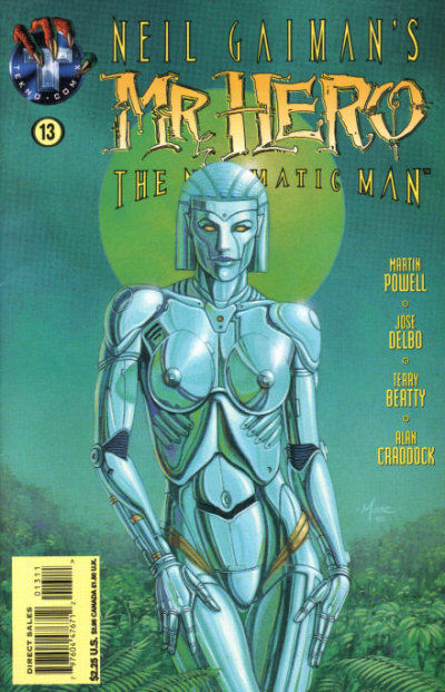 Cover for Neil Gaiman's Mr. Hero - The Newmatic Man (Big Entertainment, 1995 series) #13