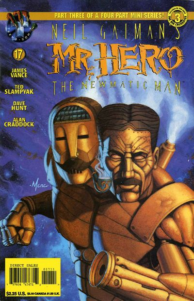 Cover for Neil Gaiman's Mr. Hero - The Newmatic Man (Big Entertainment, 1995 series) #17