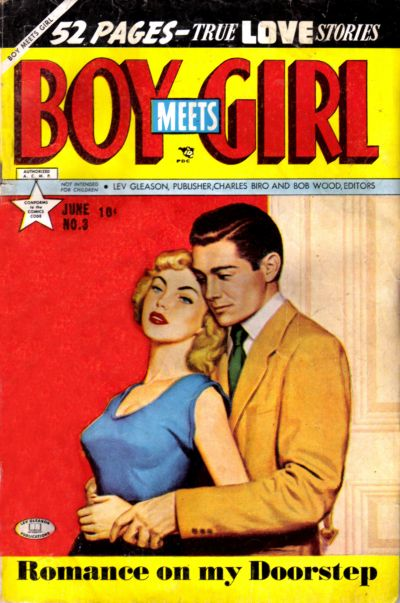 Cover for Boy Meets Girl (Lev Gleason, 1950 series) #3