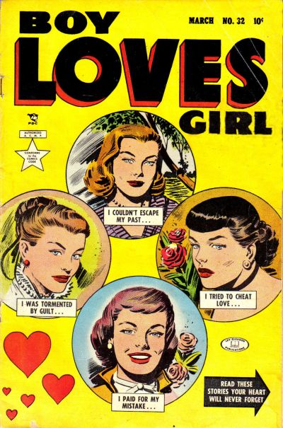 Cover for Boy Loves Girl (Lev Gleason, 1952 series) #32