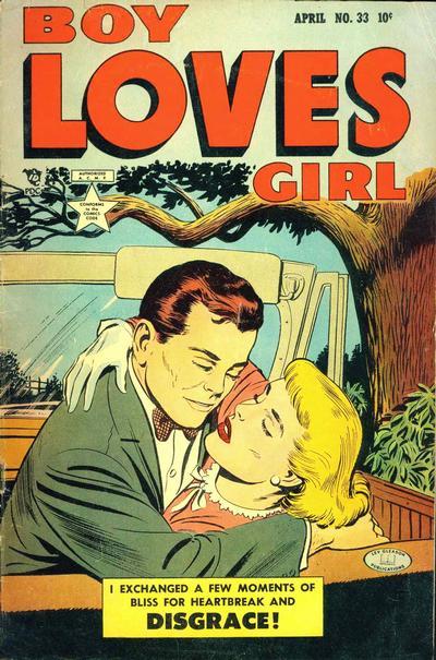 Cover for Boy Loves Girl (Lev Gleason, 1952 series) #33