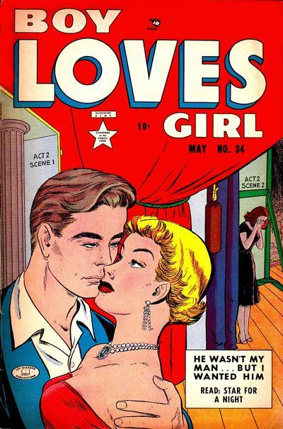 Cover for Boy Loves Girl (Lev Gleason, 1952 series) #34