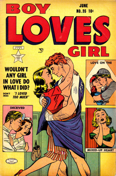 Cover for Boy Loves Girl (Lev Gleason, 1952 series) #35