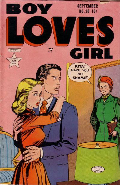 Cover for Boy Loves Girl (Lev Gleason, 1952 series) #38