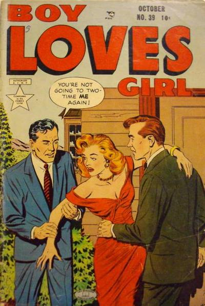Cover for Boy Loves Girl (Lev Gleason, 1952 series) #39