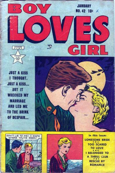 Cover for Boy Loves Girl (Lev Gleason, 1952 series) #42