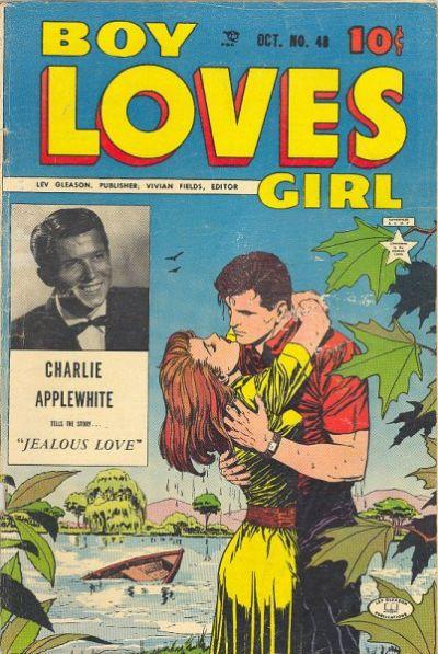 Cover for Boy Loves Girl (Lev Gleason, 1952 series) #48