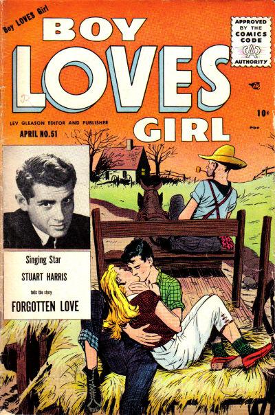 Cover for Boy Loves Girl (Lev Gleason, 1952 series) #51