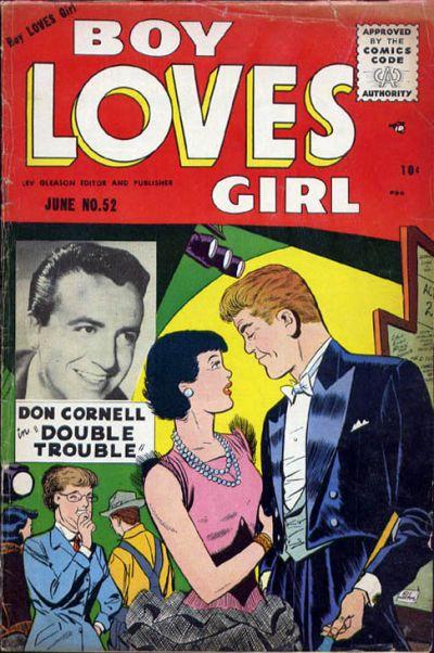 Cover for Boy Loves Girl (Lev Gleason, 1952 series) #52