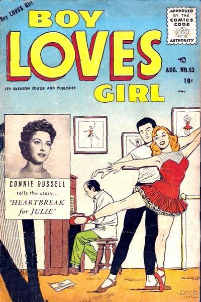 Cover for Boy Loves Girl (Lev Gleason, 1952 series) #53
