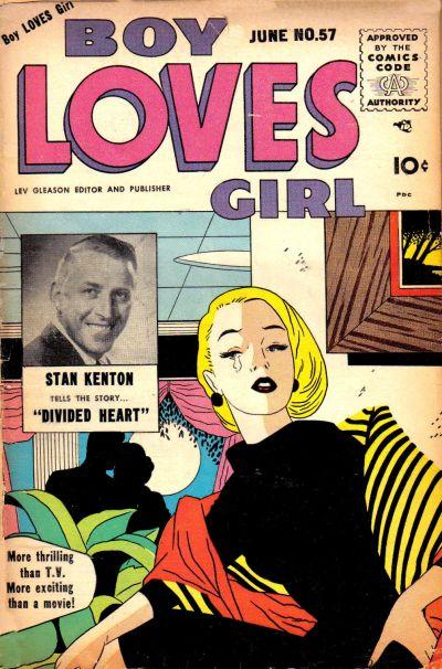 Cover for Boy Loves Girl (Lev Gleason, 1952 series) #57