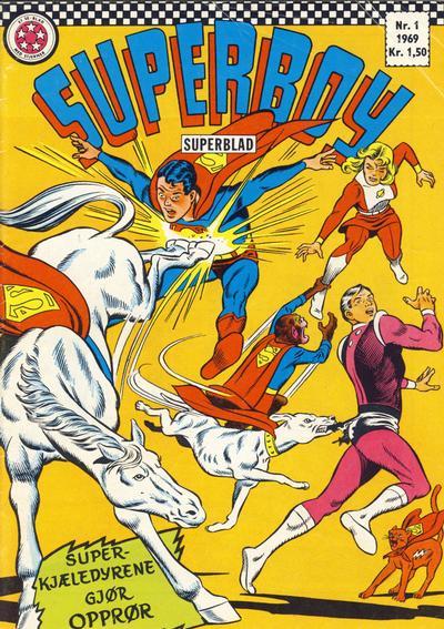 Cover for Superboy (Serieforlaget / Se-Bladene / Stabenfeldt, 1967 series) #1/1969