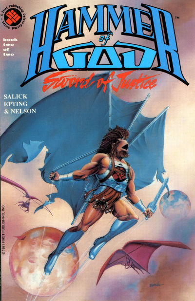 Cover for Hammer of God: Sword of Justice (First, 1991 series) #2