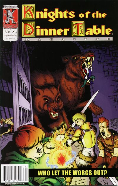 Cover for Knights of the Dinner Table (Kenzer and Company, 1997 series) #83