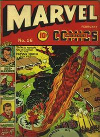 Cover Thumbnail for Marvel Mystery Comics (Marvel, 1939 series) #16